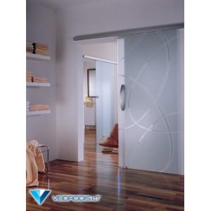 Stumdomos stiklo durys