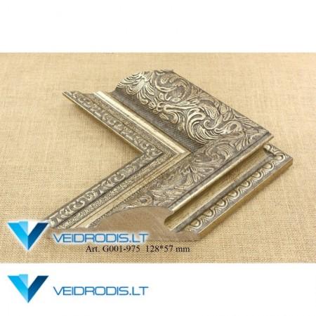 Veidrodis su rėmeliu G 001 (sidabras)